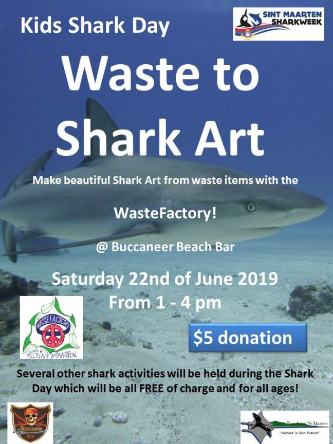 Waste to shark art poster (1)