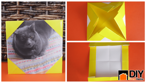 Anyone Can Make This Crazily Simple Origami Picture Frame Even The Cat