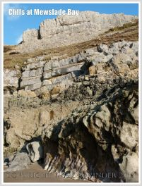 Cliffs of Carboniferous High Tor Limestone with erosion features