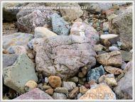 Storm beach boulders at Broughton Bay
