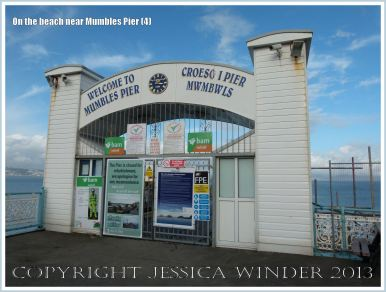 View of the entrance to Mumbles Pier