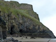 A section of cliff face at Rhossili