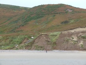 New path to Rhossili Beach under construction.