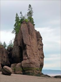 """Sea stack, known also as a """"Flower Pot"""" at Hopewell Rocks in New Brunswick, Canada"""