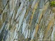 Interesting pattern and colour in Silurian rocks at Clogher Bay on the Dingle Peninsula in Ireland