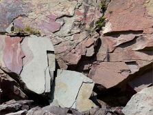 Late Carboniferous Period rocks of the Mabou Group near Cape Enrage