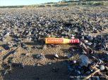 Flotsam orange plastic signal flare
