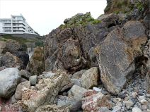 Carboniferous limestone rock formation at Langland Bay