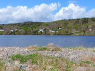 View looking southwest across Ogden's Pond from Crystal Cliffs Beach