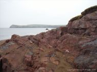 Shoreline outcrop of the Devonian Trabeg Conglomerate Formation on the Dingle Peninsula in Ireland