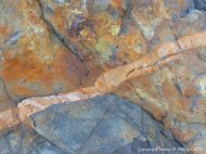 Detail of pattern in a beach boulder at Rousse Point