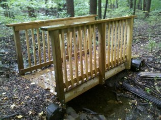 Replaced Bridge over wetland stream