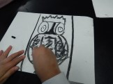 Drawing with Charcoal Pencils at Winter Camp