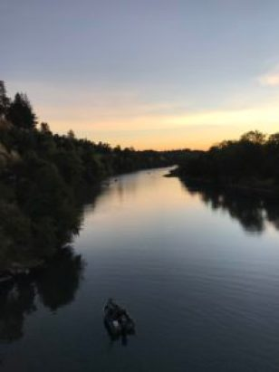 American River, sunrise, fisherman, salmon, fishing, sunrise