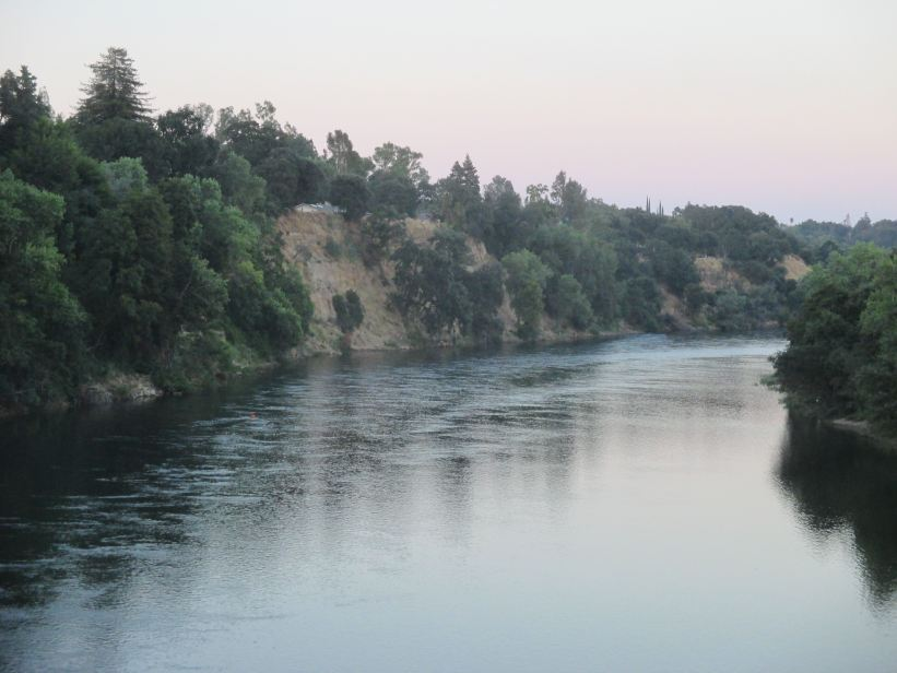 Fair Oaks Bluffs, Fair Oaks Bridge, American River, American River Parkway, water, monring, families, walkers, cyclists, joggers, climb, hike, walk