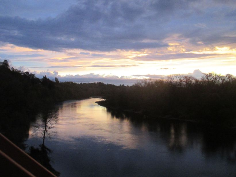 sunrise, rain, Fair Oaks Bridge, morning, beauty, spectacular, stunning, Facebook