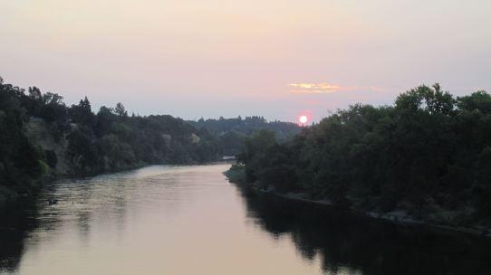 sunrise, mornings, FairOaks , Fair oaks Bridge, peaceful, peace,American River, water