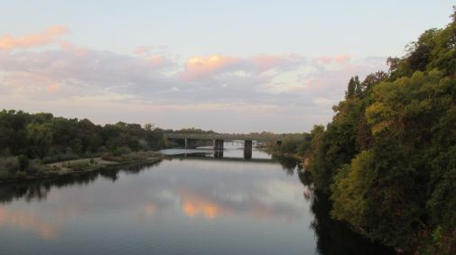 Fair Oaks Bridge, sunrise, mornings, American River, beauty, peace, clouds, rain, first rain, fall