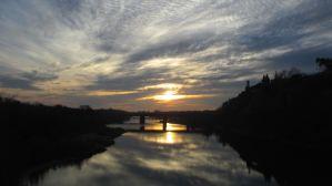 sunet, Fair Oaks Bridge, beauty, outdoors, nature, writing