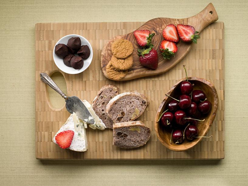 cutting board with food. Food On A Cutting Board With O