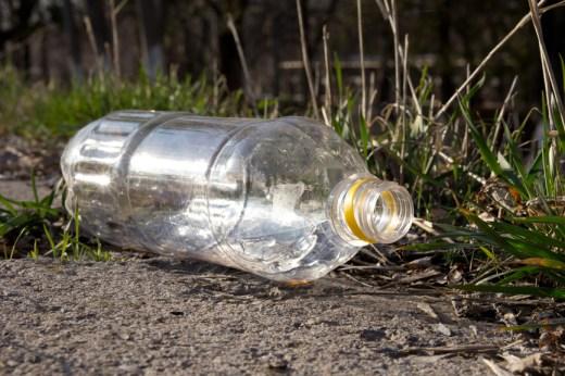plastic bottle ruining nature