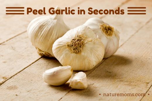 peel garlic  in seconds