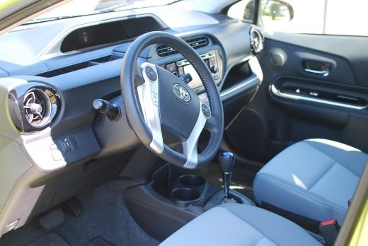Interior of Prius c