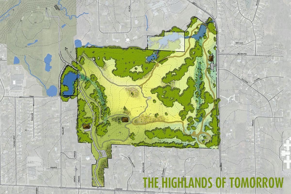 Leonard Michigan Map.The Highlands