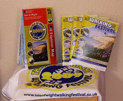Isle of Wight Walking Festival goodies