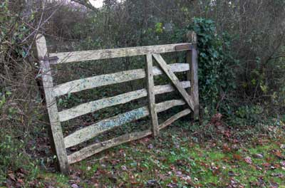 Gate at Station Road, Ashey