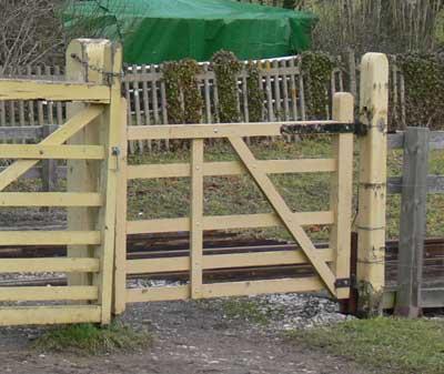 Gate at Ashey halt