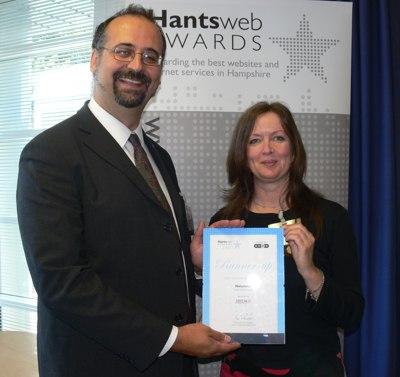 At the Hantsweb Awards 2007