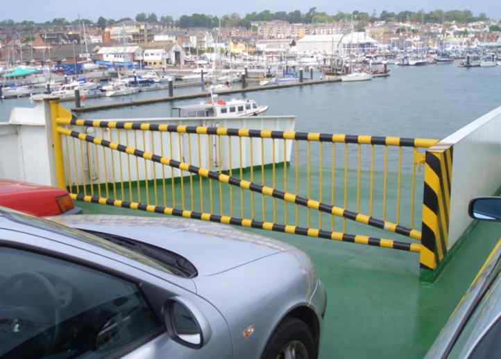 Gate on Red Funnel ferry, Isle of Wight