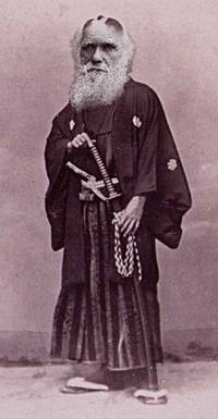 Charles Darwin as a samurai