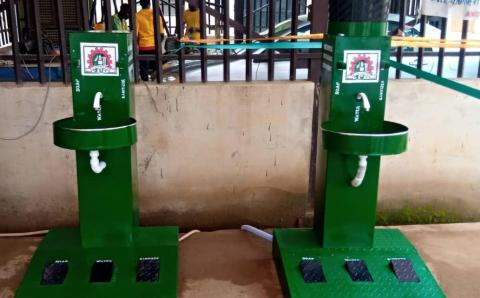 New Invention: Nigeria higher institution, Fed. Poly Offa invents new machine to curb the spread of Covid-19