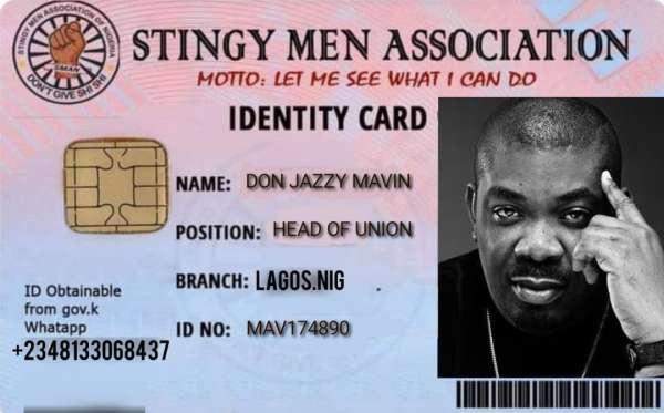 Don Jazzy joins 'Stingy Men Association'