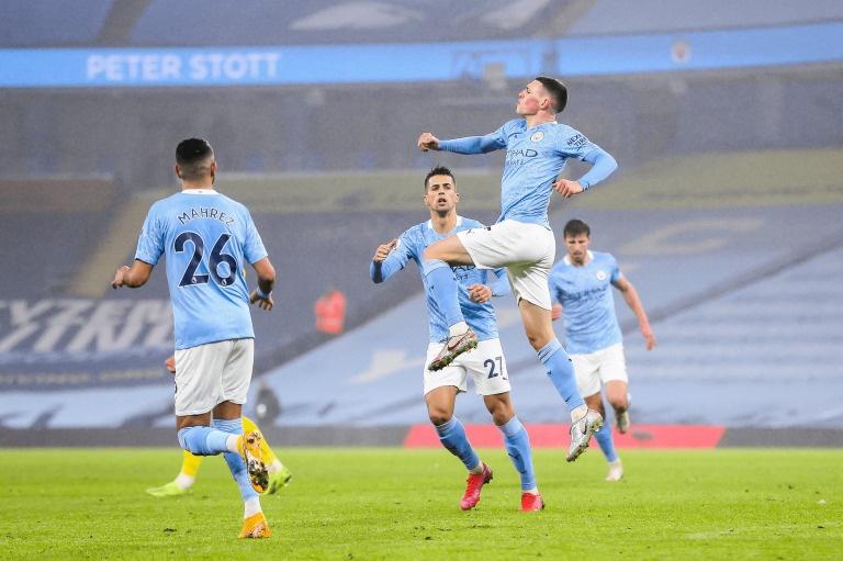 Foden strikes as Man City beat Brighton to extend unbeaten run