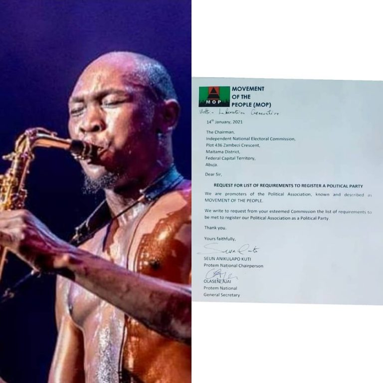 Photo: Seun Kuti To Register 'Movement Of The People' As Political Party