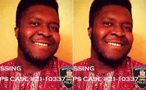 Alart: A Nigerian man posted on the list of missing persons in Canada