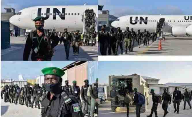 While Nigeria battles high insecurity, 144 Nigerian police officers arrive somalia to boost security