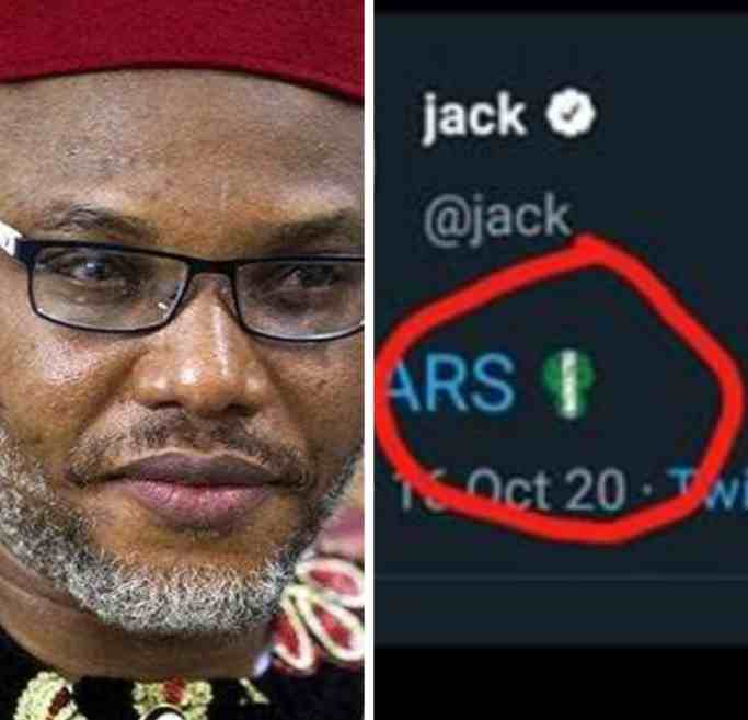 BREAKING: Twitter deletes Nnamdi Kanu's tweet, removes #EndSARS emoji