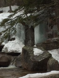 Part of the falls iced over!