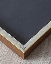 close up of back corner frame with black backing, tabs and moulding