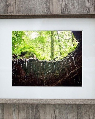 mammoth cave mouth waterfall framed photo farmhouse grey frame amswphotography