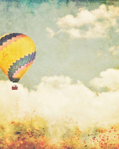 "fine art print yellow hot air balloon ""Storybook"""