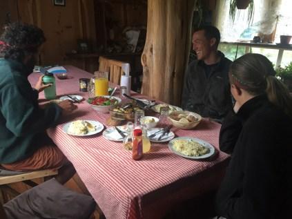Wonderful dinner prepared by Margo