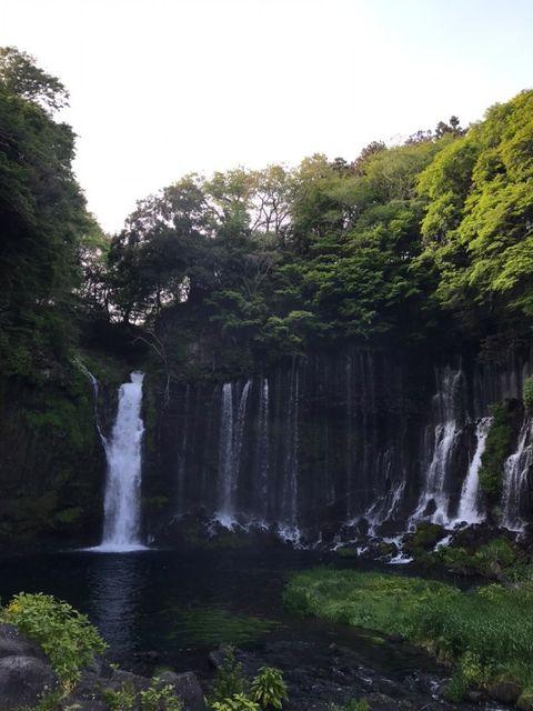 静岡県富士宮市にある白糸の滝