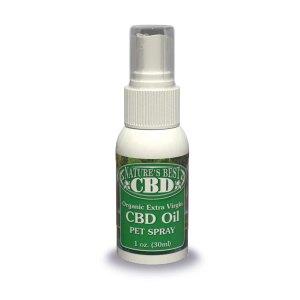 Picture of Nature's Best CBD Organic Extra Virgin CBD Oil Pet Spray, 1oz. size