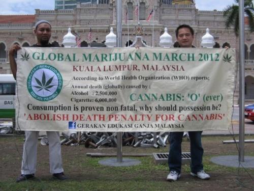 Malaysia marijuana protest