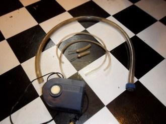 Just a few simple items (Air pump, few sizes of tubing bike needles)